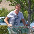 David Hasselhoff et sa compagne Hayley Roberts à Los Angeles, le 14 août 2013.