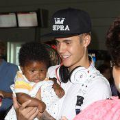 Justin Bieber : Bad boy au coeur tendre, ému par un nourrisson...