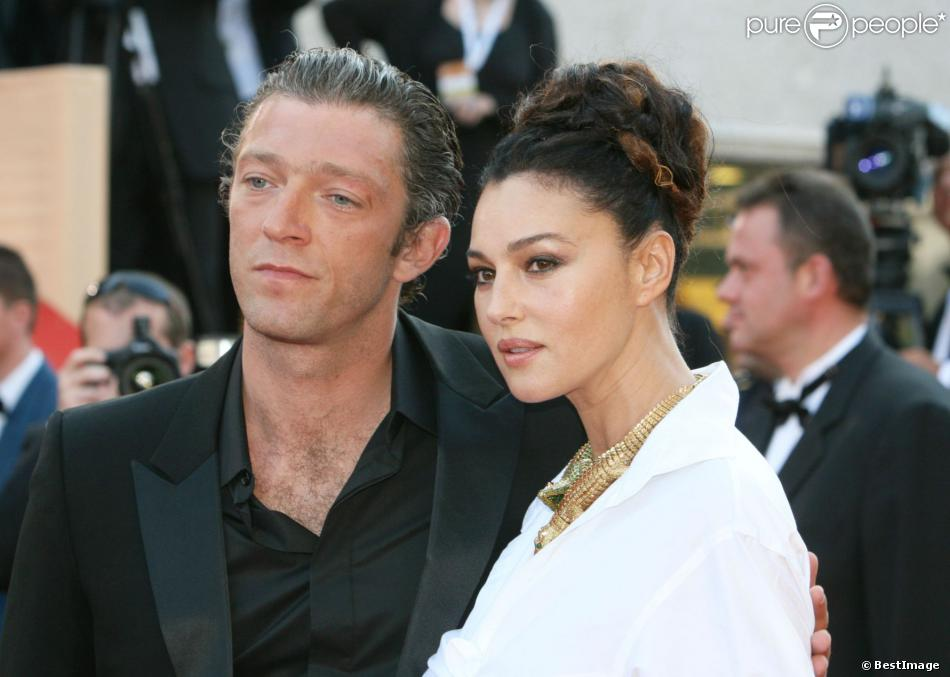 Monica Bellucci et son mari Vincent Cassel à Cannes en mai 2006.