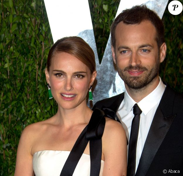 Natalie Portman et Benjamin Millepied à la soirée Vanity Fair Oscar Party au Sunset Tower Hotel de West Hollywood, Los Angeles, le 24 février 2013.