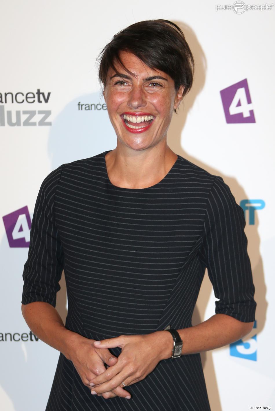 Alessandra Subletlors de la conférence de presse de rentrée de France Télévisions au Palais de Tokyo le 27 août 2013 à Paris.