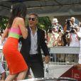 Sandra Bullock et George Clooney arrivent au 70e festival du film de Venise, le 28 août 2013.