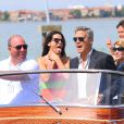 Sandra Bullock et George Clooney au 70e festival du film de Venise, le 28 août 2013.