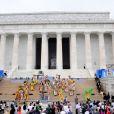 Performance de danse folklorique lors de la commémoration du 50e anniversaire de la marche de Washington au sein de la capitale des Etats-Unis le 28 août 2013