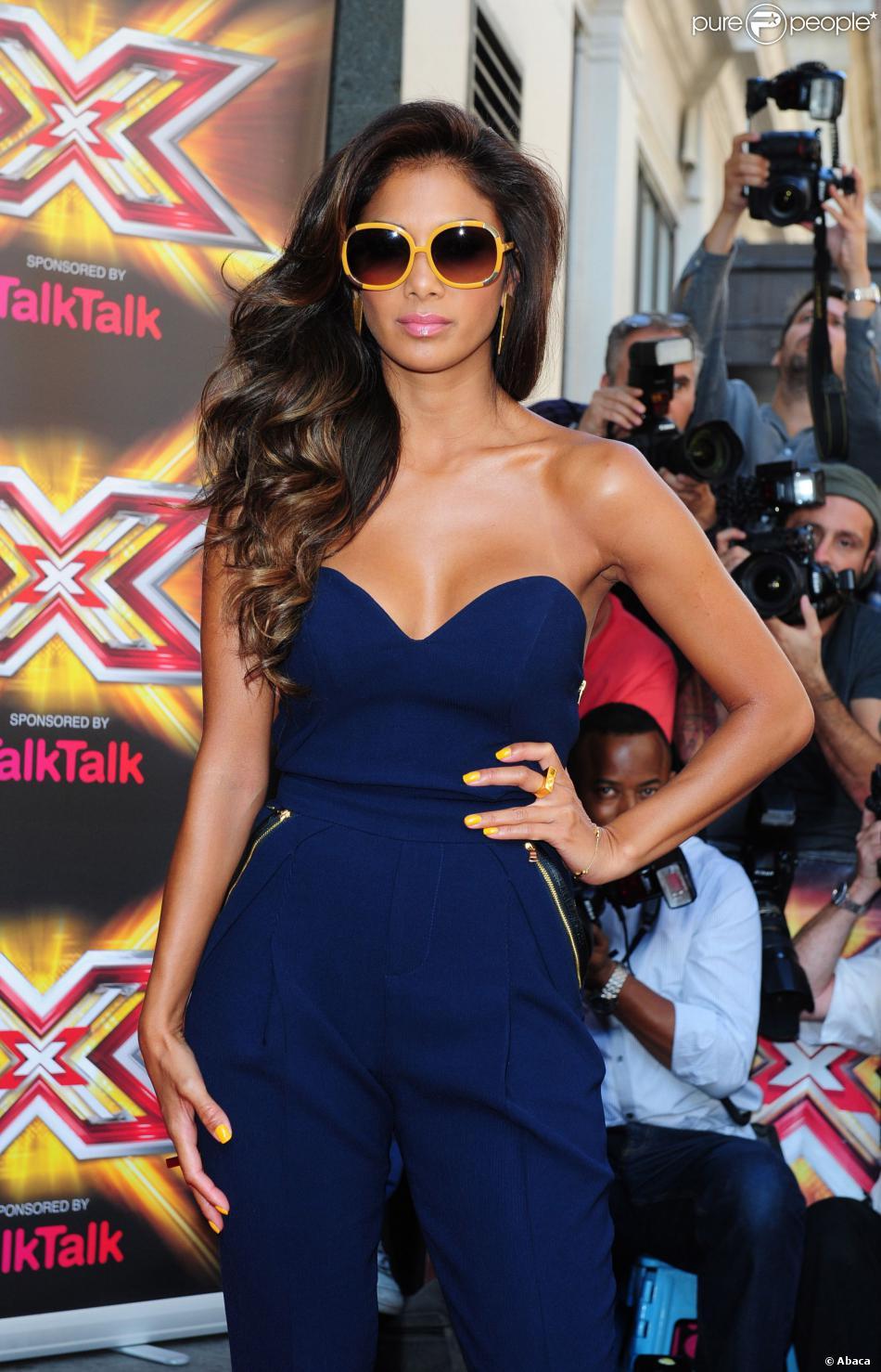 Nicole Scherzinger lors du lancement de X Factor UK 2013 à l'hôtel Mayfair de Londres, le 29 août 2013.