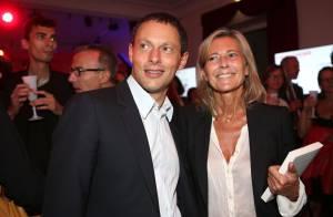 Claire Chazal radieuse littéraire au Prix du Roman Fnac avec Marc-Olivier Fogiel