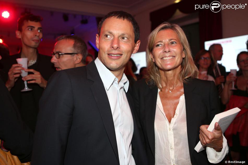 Claire Chazal et Marc Olivier Fogiel lors de la soirée Prix du Roman Fnac au Théâtre du Châtelet, à Paris, le 29 août 2913.