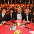 Exclusif - Jean-Baptiste Maunier, Mathilda May, Patrick Sébastien, Martin Lamotte et Tal lors de l'émission Le plus grand cabaret du Monde, diffusion le 7 septembre 2013
