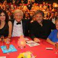 Exclusif - Helena Noguerra, Patrick Sébastien, Stéphane Guillon et Marthe Villalonga lors de l'émission Le plus grand cabaret du Monde, diffusion le 7 septembre 2013