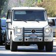 Lamar Odom, surpris au volant de son 4x4 Mercedes-Benz à Los Angeles, 28 août 2013.