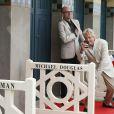 Michael Douglas et Steven Soderberg sur les planches de Deauville, le 31 août 2013.