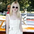 Dakota Fanning arrive à Venise le 30 août 2013.