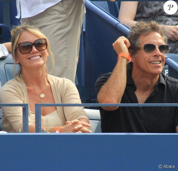 Ben Stiller et sa femme Christine Taylor lors de l'US Open 2013 à New York le 1er septembre 2013.