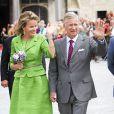 Le roi Philippe et la reine Mathilde de Belgique effectuaient le 1er septembre 2013 leur première sortie officielle depuis l'intronisation du souverain, participant à la Cavalcade d'Hanswijk à Malines.