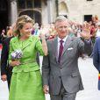Le roi Philippe et la reine Mathilde de Belgique assistaient le 1er septembre 2013 à la Cavalcade d'Hanswijk, commémoration de la Vierge Marie à Malines. Leur première sortie officielle depuis l'intronisation du nouveau roi des Belges le 21 juillet.