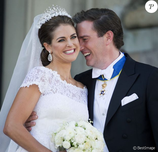 La princesse Madeleine de Suede et Chris O'Neill - Mariage de la princesse Madeleine de Suede avec Chris O'Neill au Palais de Drottningholm a Stockholm en Suede le 8 juin 2013.  Princess Madeleine of Sweden, and Christopher O'Neill arrive at Drottningholm Palace to attend the evening banquet after their wedding at Drottningholm Palace on June 8, 2013 in Stockholm, Sweden.08/06/2013 - Stockholm