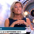 """Anne-Sophie Lapixà """"C à vous"""" le 2 septembre 2013."""
