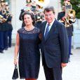 Xavier Darcos et sa femme Laurelors d'un dîner d'Etat à l'Elysée le 3 septembre 2013.