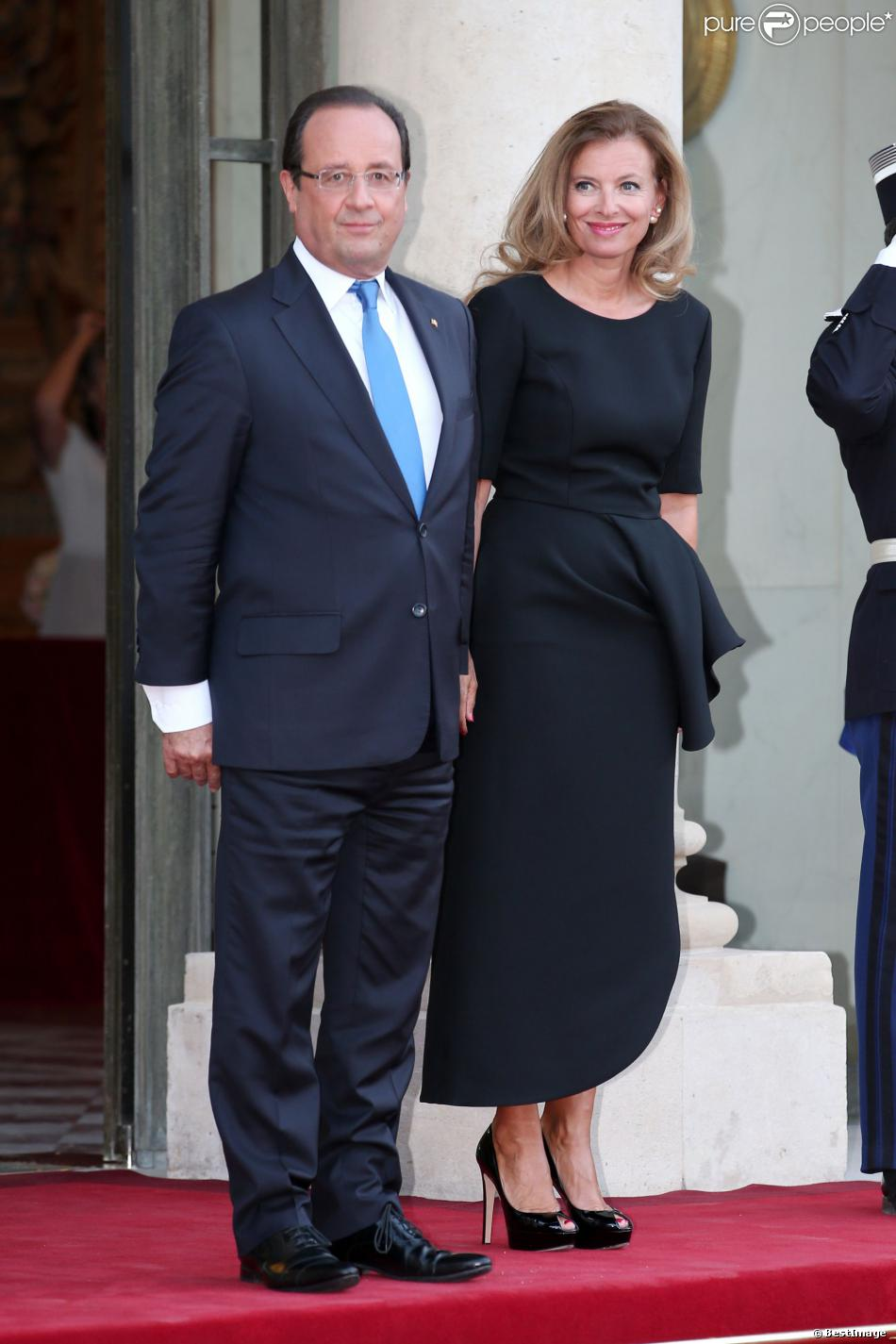 François Hollande et Valérie Trierweilerlors d'un dîiner d'Etat à l'Elysée le 3 septembre 2013.