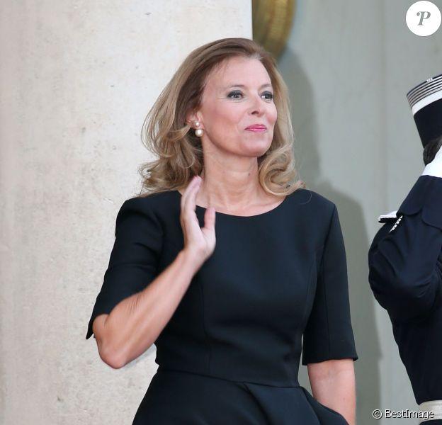 Valérie Trierweilerlors d'un dîner d'Etat à l'Elysée le 3 septembre 2013.