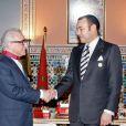 Le roi Mohammed VI recevant Martin Scorsese lors du Festival international du film de Marrakech en 2005