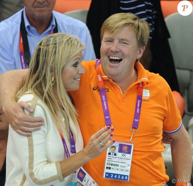 Willem-Alexander et Maxima des Pays-Bas lors des JO de Londres 2012