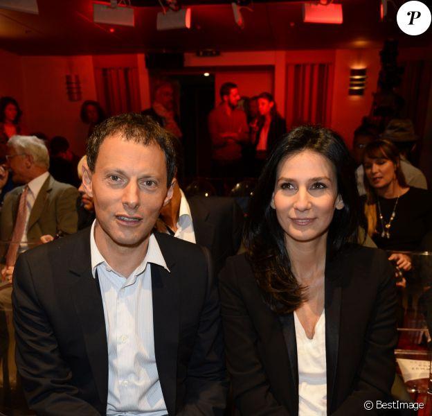 Marc-Olivie Fogiel et Marie Drucker lors de la conférence de presse de rentrée de RTL le 10 septembre 2013, à Paris