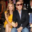 Thalia Matola et Tommy Matola - Défilé Tommy Hilfiger lors de la fashion week à New York le 9 septembre 2013.