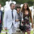 Lily Allen et son mari Sam Cooper au mariage du rappeur Stephen Paul Manderson alias Professor Green et Millie Mackintosh dans le Somerset, le 10 septembre 2013.
