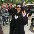 Rihanna arrive à l'hôtel 45 Park Lane à Londres. Le 10 septembre 2013.