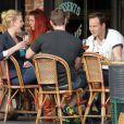 """Exclusif - Katherine Heigl et Patrick Wilson déjeunent en terrasse au restaurant """"Figaro Cafe"""" à Los Feliz, le 15 février 2013"""