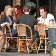 """Exclusif - Katherine Heigl et Patrick Wilson déjeunent en terrasse au restaurant """"Figaro Cafe"""" à Los Feliz, le 15 février 2013 : ambiance détendue !"""