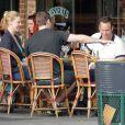 """Exclusif - Katherine Heigl et Patrick Wilson déjeunent avec un ami en terrasse au restaurant """"Figaro Cafe"""" à Los Feliz, le 15 février 2013"""