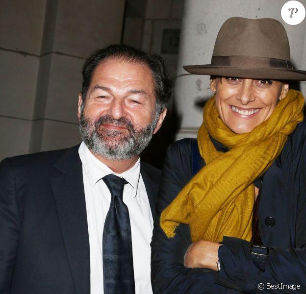 Denis Olivennes et Inès de la Fressange lors de la générale de la pièce Nina au Théâtre Edouard VII à Paris le 16 septembre 2013.