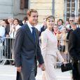 Pierre Casiraghi et Beatrice Borromeo au magnifique mariage du prince Felix de Luxembourg et la princesse Claire en la basilique Sainte Marie-Madeleine de Saint-Maximin-La-Sainte-Baume, le 21 septembre 2013.