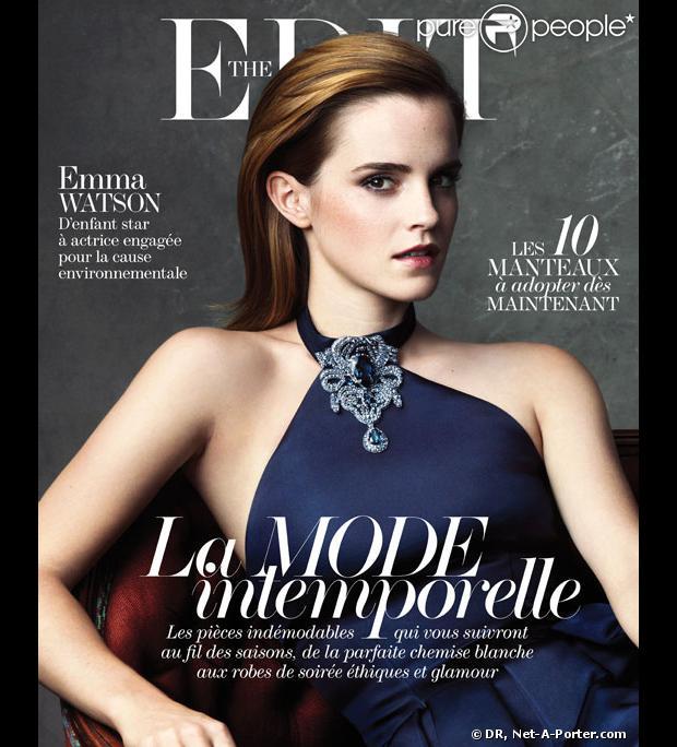 Emma Watson photographiée par Bjorn Iooss pour The Edit, le magazine en ligne de Net-A-Porter.com.