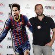 Fred Testot à la soirée de lancement de FIFA 14, organisée à la Gaîté Lyrique, à Paris, le 23 septembre 2013. La simulation de foot d'EA Sports sort le 26 septembre.