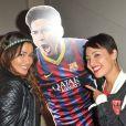 Karima Charni et Hedia Charni à la soirée de lancement de FIFA 14, organisée à la Gaîté Lyrique, à Paris, le 23 septembre 2013. La simulation de foot d'EA Sports sort le 26 septembre.