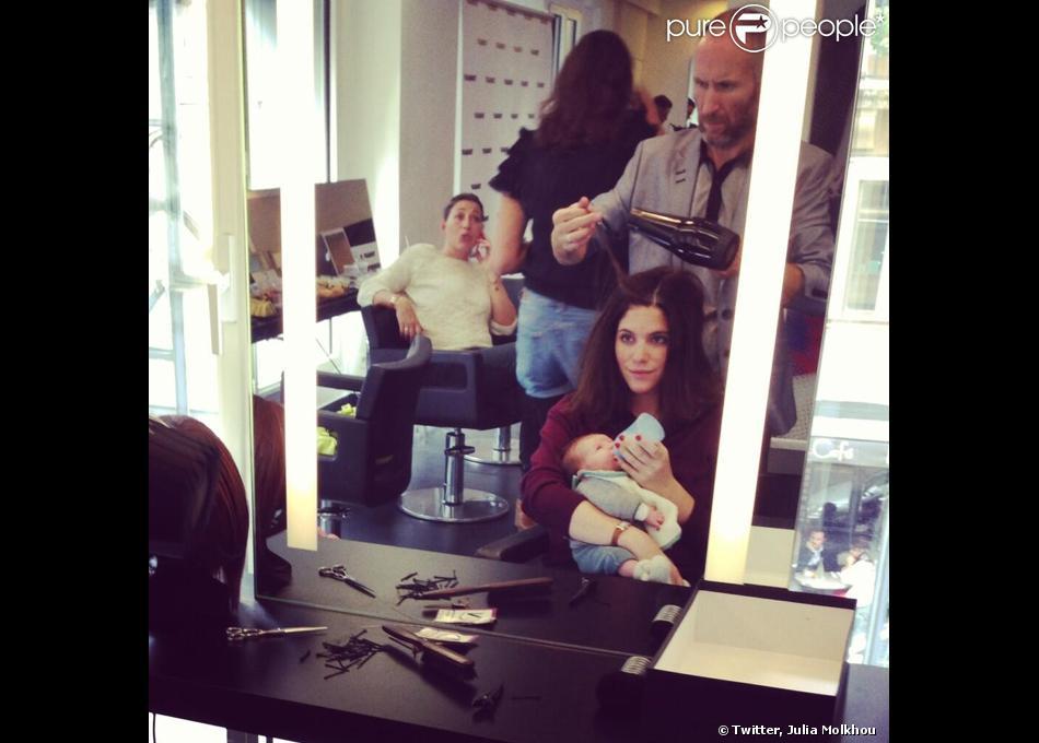 Julia Molkhou a posté une photo de son bébé, Jim, sur son compte Twitter.