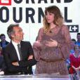 Daphné Bürki annonce sa grossesse sur le plateau du Grand Journal de Canal+ le lundi 7 janvier 2013