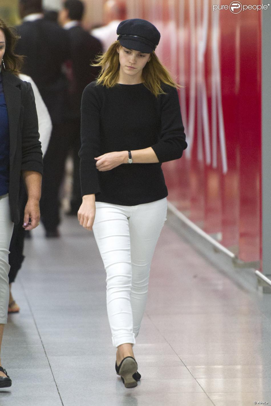 Le look marin adopté par Emma Watson