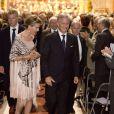 Le roi Philippe de Belgique et son épouse la reine Mathilde assistaient dans la soirée du 25 septembre 2013 en l'église Notre-Dame de la Cambre d'Ixelles à un concert en l'honneur de l'accession au trône du roi, en hommage aux 20 ans de règne du roi Albert II et en souvenir du roi Baudouin.