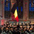 Le roi Philippe de Belgique et sa femme la reine Mathilde assistaient dans la soirée du 25 septembre 2013 en l'église Notre-Dame de la Cambre d'Ixelles à un concert en l'honneur de l'accession au trône du roi, en hommage aux 20 ans de règne du roi Albert II et en souvenir du roi Baudouin.