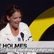 Katie Holmes : Divine et engagée aux côtés d'Alicia Keys, Gerard Butler et Bono