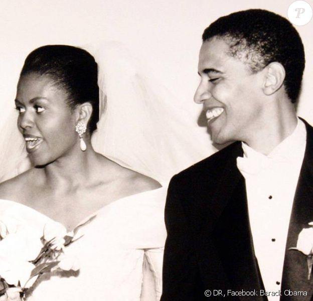 Photo postée par Barack Obama sur Facebook pour fêter ses 21 ans de mariage avec Michelle.