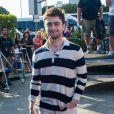 """Daniel Radcliffe sur le plateau de l'émission """"Extra"""" à Los Angeles, le 3 octobre 2013."""