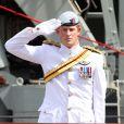 Le prince Harry à Sydney le 4 octobre 2013 lors des célébrations du centenaire de l'indépendance de la marine royale australienne.