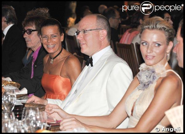 Stéphanie de Monaco, Albert II de Monaco et Charlene Wittstock