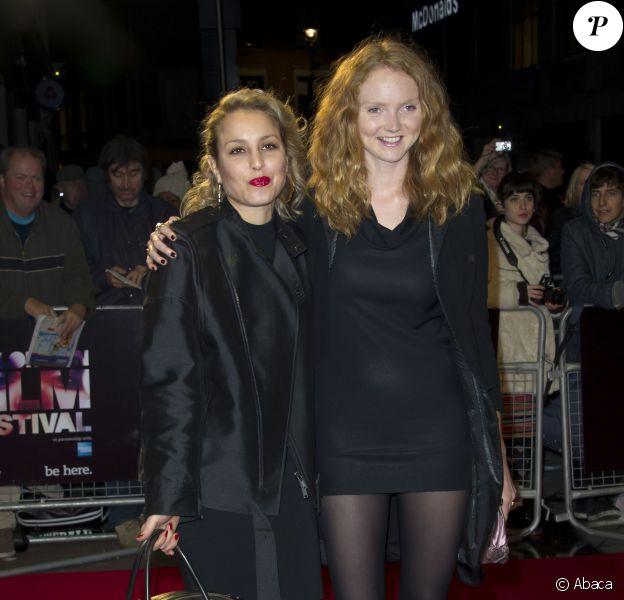 Lily Cole et Noomi Rapace à la première de The Zero Theorem au BFI Film Festival à l'Odeon West End à Londres, le 13 octobre 2013.