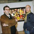"""Bruno Mouron et Pascal Rostain à Paris pour leur exposition """"Trash"""" en mars 2007."""